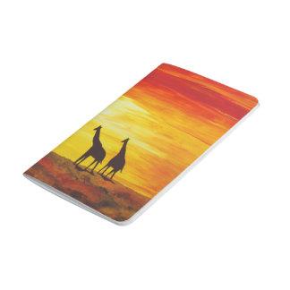 Diário Girafas no por do sol (arte de Kimberly Turnbull)