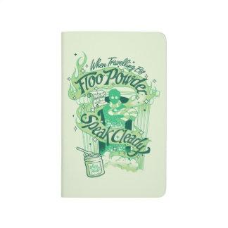 Diário Gráfico da tipografia do pó de Harry Potter | Floo