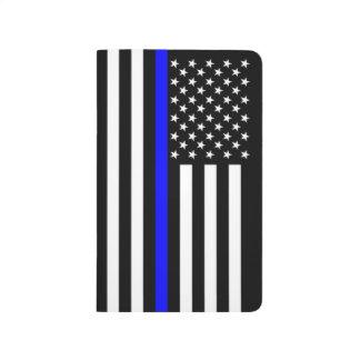 Diário Gráfico fino da bandeira americana de Blue Line em