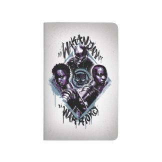 Diário Grafites dos guerreiros da pantera preta |