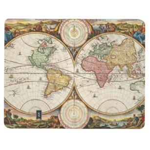 Diário História antiga dos hemisférios antigos do mapa do