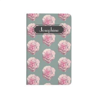 Diário Ilustração da aguarela do rosa do rosa com nome