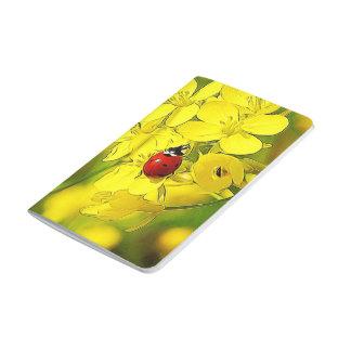 Diário Joaninha amarelo do vermelho da boa sorte da flor