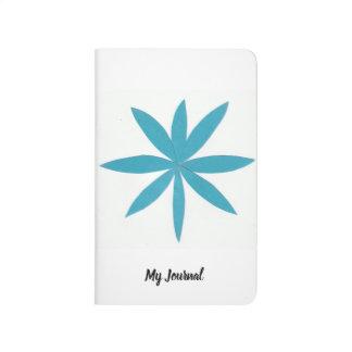 Diário Jornal branco do bolso com design da estrela