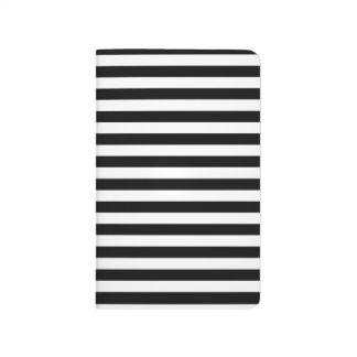 Diário Jornal/caderno listrados pretos & brancos