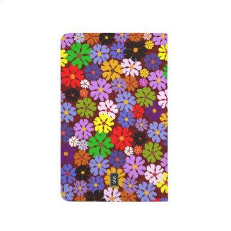 Diário Jornal decorativo do desenhista das multi flores