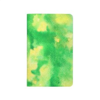 Diário Jornal do bolso da aguarela do verde amarelo