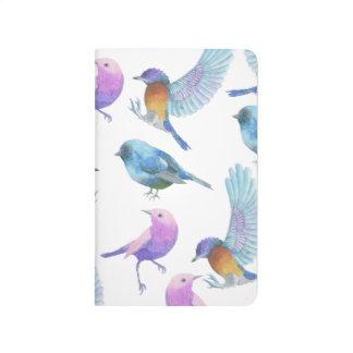 Diário Jornal do bolso da grade do amante do pássaro