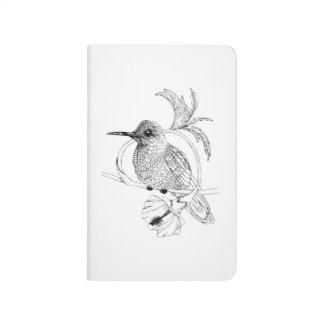 Diário Jornal do bolso da ilustração do pássaro de