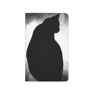 Diário Jornal do bolso da silhueta do gato preto