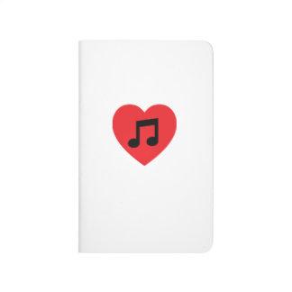 Diário Jornal do bolso do coração da nota da música