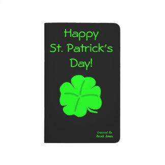 Diário Jornal do bolso do dia de St Patrick feliz