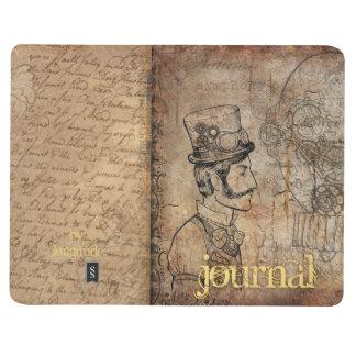 Diário Jornal do Steampunk do cavalheiro do Victorian