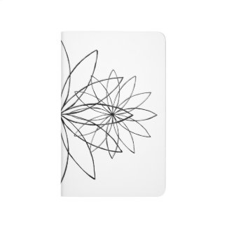 Diário Jornal minimalista do bolso da flor