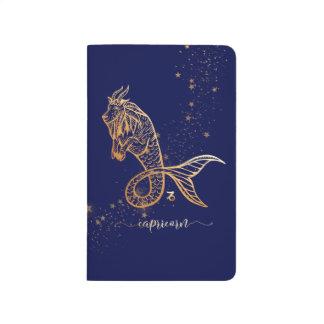 Diário Jornal personalizado ouro do marinho do zodíaco do
