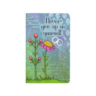 Diário Jornal positivo adorável da flor do Doodle do