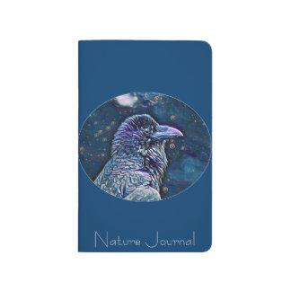 Diário Jornal selvagem elegante da natureza do corvo