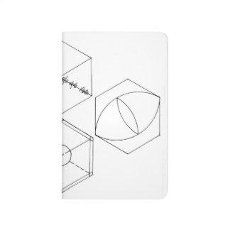 Diário Jornal simples do bolso dos hexágonos