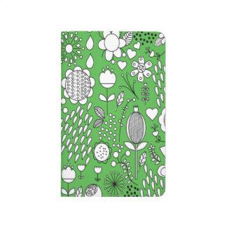 Diário Jornal verde do bolso das flores