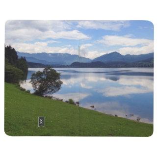 Diário Lago Hallstattersee, cumes, Áustria