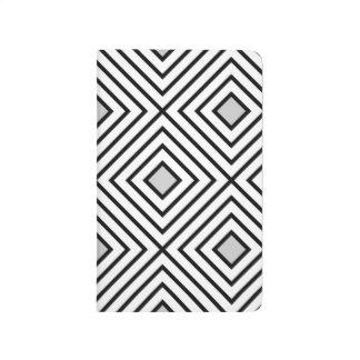 Diário Linha branco geométrico 02 do preto do teste