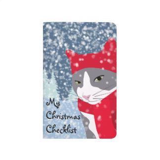 Diário Lista de verificação bonito do Natal do gato