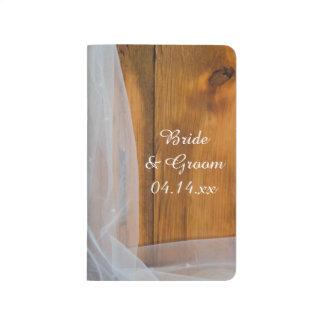 Diário Lista de verificação de madeira do casamento do
