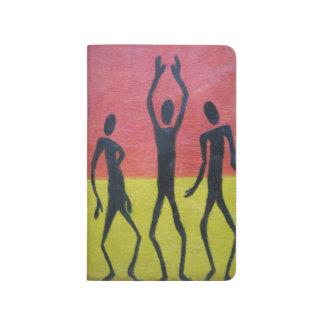 Diário Livro de nota africano da dança