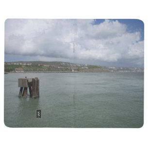 Diário Livro de nota com imagem de Folkestone (do mar)