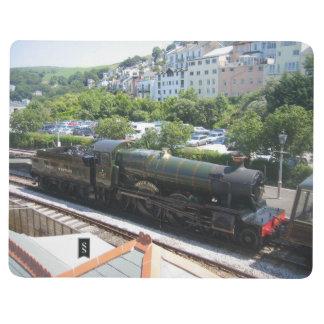 Diário Livro de nota com imagem do trem do vapor (solar