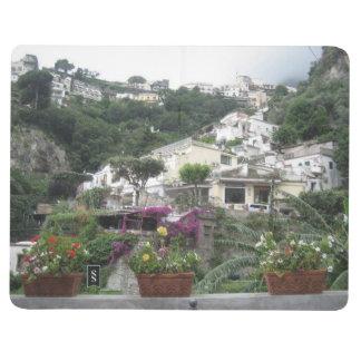 Diário Livro de nota com imagens da costa de Amalfi