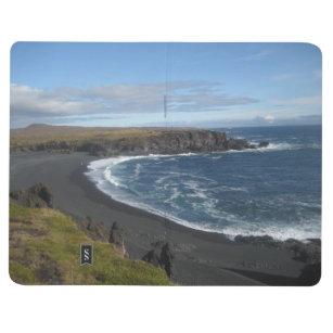 Diário Livro de nota com imagens islandêsas do cenário