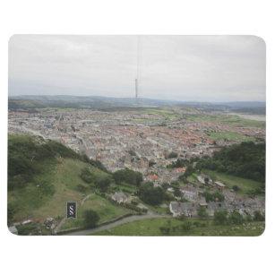 Diário Livro de nota com o Llandudno (Wales) no cobrir