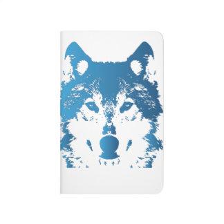 Diário Lobo do azul de gelo da ilustração