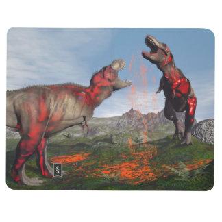 Diário Luta do dinossauro do rex do tiranossauro - 3D