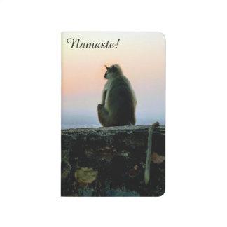 Diário Macaco da ioga da meditação de Namaste em India no
