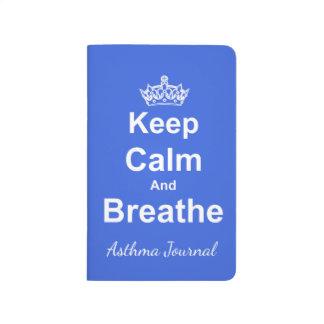 Diário Mantenha calmo e respire o jornal da asma