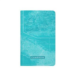 Diário Mapa azul de Cuba