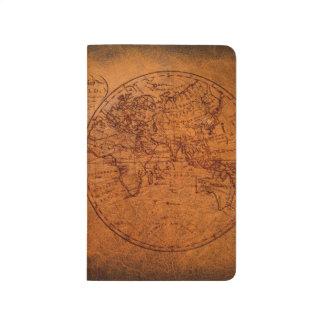 Diário Mapa clássico do viagem do Velho Mundo do vintage