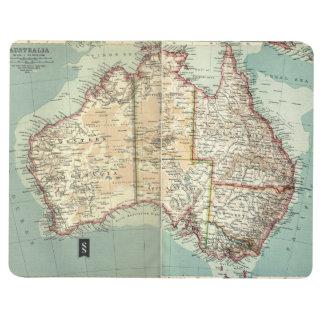 Diário Mapa detalhado do continente australiano antigo do