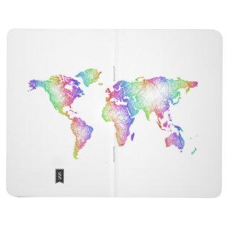 Diário Mapa do mundo do arco-íris