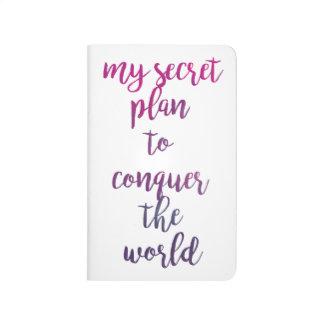 Diário Meu plano secreto para conquistar o mundo