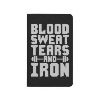 Diário Motivação do exercício - sangue, suor, rasgos, e