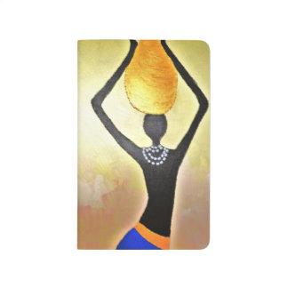 Diário Mulher africana com o frasco na cabeça