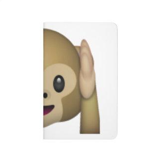 Diário Não ouça nenhum macaco mau - Emoji
