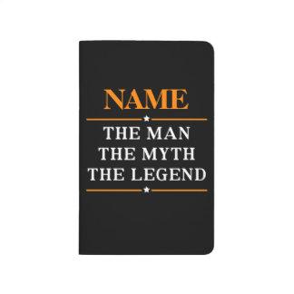Diário Nome personalizado o homem o mito a legenda
