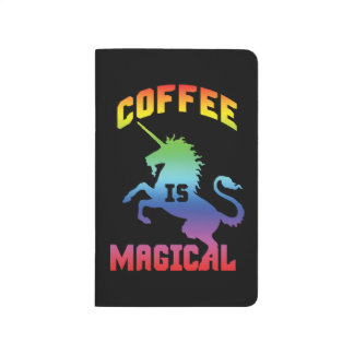 Diário O café é mágico - unicórnio engraçado da cafeína