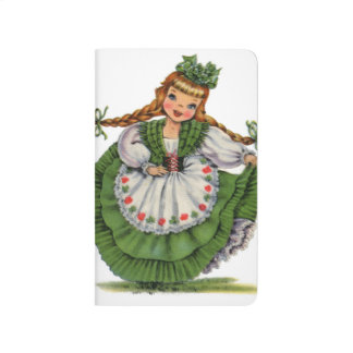 Diário O dançarino irlandês retro da boneca com dobras