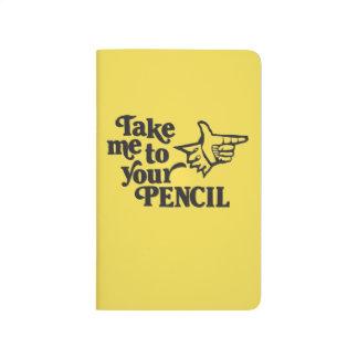 Diário O gráfico retro anota o livro - amarelo