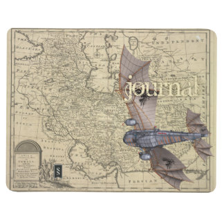 Diário O jornal do aviador de Steampunk (que voa para o